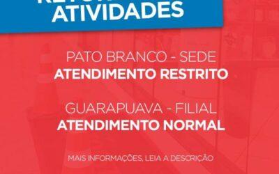 HORÁRIOS DE ATENDIMENTO NAS UNIDADES